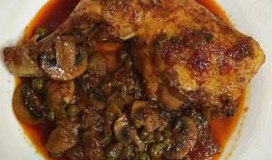 תבשיל עוף עם פטריות ואפונה