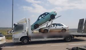 שניים נתפסו ללא רישיון ברכבים שנועדו לפירוק
