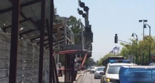 אוטובוס פגע בפיגום ביפו: שישה נפגעים
