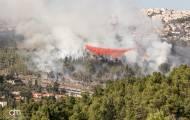 שריפה גדולה ליד מבשרת ציון; תושבים פונו