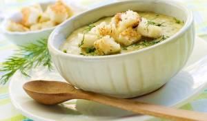 מרק קרם קישואים ותפוחי אדמה