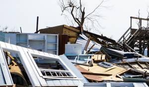 בית שקרס בהוריקן הארווי