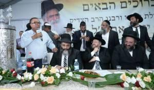"""האחים הרבנים אברג'ל, הגר""""י דרעי ויחיאל זוהר, בחודש שעבר"""