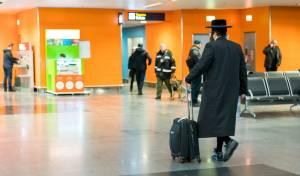 יהודי בשדה התעופה באוקראינה