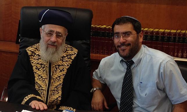 שר שלום ג'רבי עם הראשון לציון