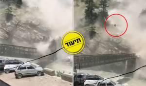 תיעוד מטורף: 9 הרוגים במפולת סלעים; צפו