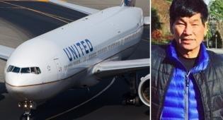 """מטוס של חברת יונייטד לצד ד""""ר דאו - הנוסע שהוכה במטוס: """"הכל עדיין כואב לי"""""""