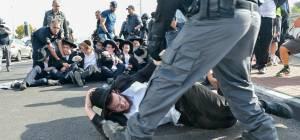 ההפגנה בצומת שילת - 'הפלג' מתלונן: 'אלימות מצד המשטרה'. צפו