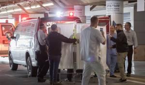 הגעת הפצועה לבית החולים
