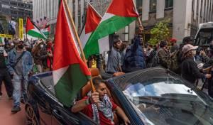 הפגנה פרו-פלסטינית, שלשום (שלישי) בניו יורק