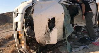 הרכב שהתהפך וגרם למותו של עוזי גדיש