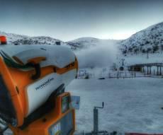 """חדש בחרמון: ה""""תותח"""" שמייצר שלג • צפו"""