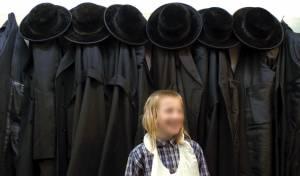 ילד ירושלמי וכובעי 'סופר', בשנת 2004
