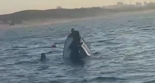 סירה התהפכה; ארבעה נוסעים חולצו • צפו