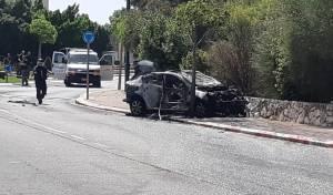 נשר: אדם נהרג כאשר רכבו עלה בלהבות