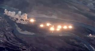 40 טון פצצות: צפו בהפצצת האי של דאעש