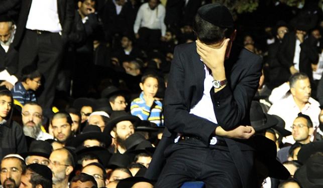 """צעירים מזרחיים בהלווית מרן הגר""""ע יוסף"""