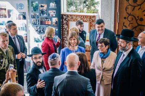 """נשיאת אסטוניה: """"גאים בתחיית הקהילה היהודית"""""""