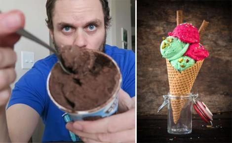 פעם שלישית גלידה... - האיש שלא מפסיק לאכול גלידה ולרדת במשקל