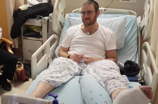 הפצוע מהפיגוע, בבוקר שאחרי