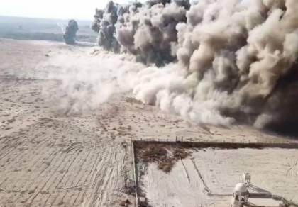 כך פוצצו 446 מוקשים בצפון ים המלח • צפו