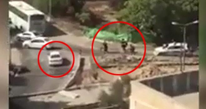 קרב היריות בין המחבל לשוטרים • צפו