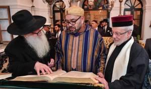 הרב פינטו עם מלך מרוקו