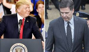 קומי וטראמפ - טראמפ יתלונן כנגד ראש ה-FBI לשעבר