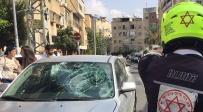 זירת התאונה - רוכב אופניים נפצע מפגיעת רכב בבני ברק