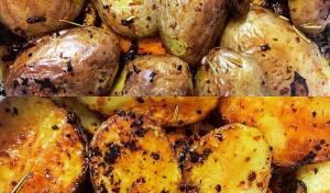 תפוחי אדמה ופטריות אפויים