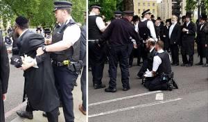המהומה בלונדון - לונדון: הקיצוניים ניסו להפגין וסולקו • צפו