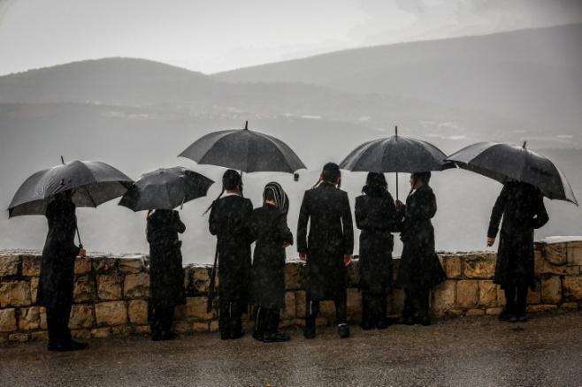 תיעוד רטוב: גשמי הברכה בעיר הקודש צפת