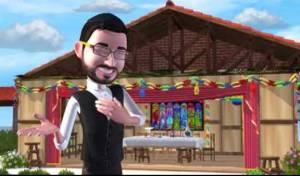 מיכה גמרמן בקליפ האנימציה לחג הסוכות