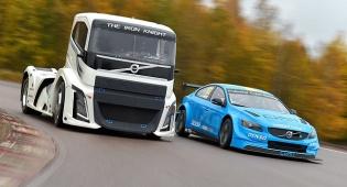 משאית וולוו נגד מכונית מירוץ - מי ינצח?