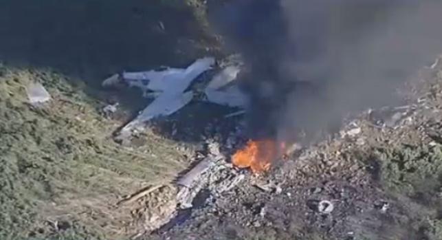 """16 הרוגים בהתרסקות מטוס צבאי בארה""""ב"""