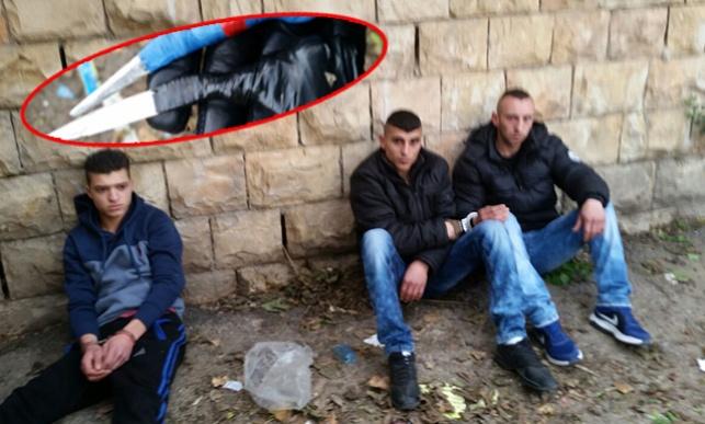"""3 ערבים עם סכינים נעצרו ליד ביהכ""""נ בירושלים"""