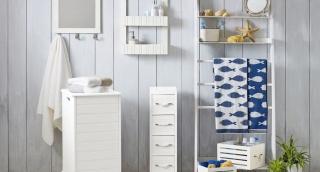 הגיוני: טפט עם הדפס דגים לחדר האמבטיה