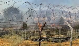 שריפה בשרון; בתים ביישוב 'נירית' מפונים