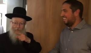 האיש החזק בבית היהודי חגג, ליצמן בא לברך