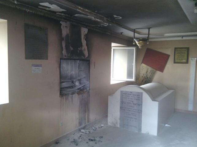 שריפה באהל הצדיק מווילעדניק - הציון ניצל