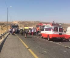 זירת התאונה - 6 הרוגים בתאונת דרכים קשה בכביש 60