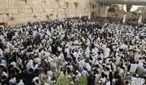 תיעוד: תפילת הושענא רבה בכותל המערבי