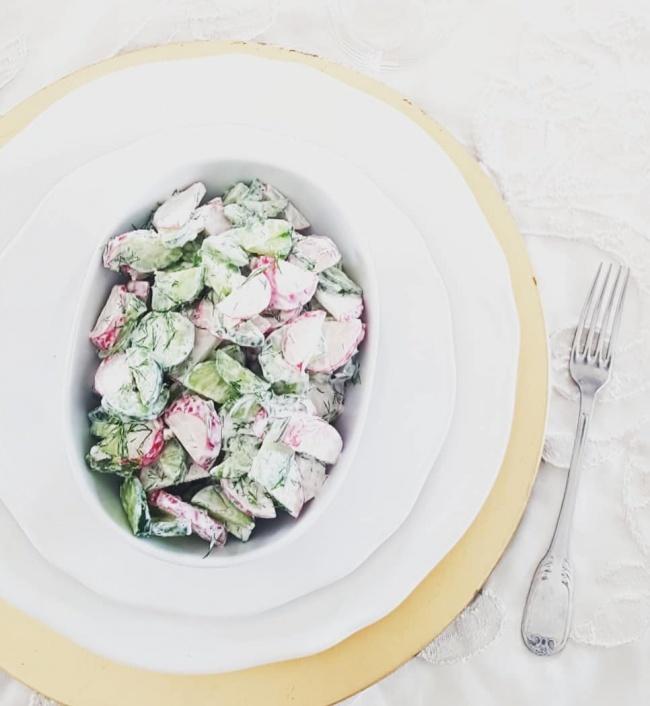 מתכון לסלט צנון ומלפפון מרענן של מורן פינטו