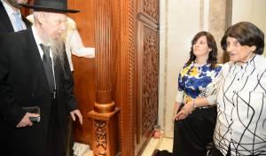 """הרבנית עם הגר""""ג אדלשטיין"""