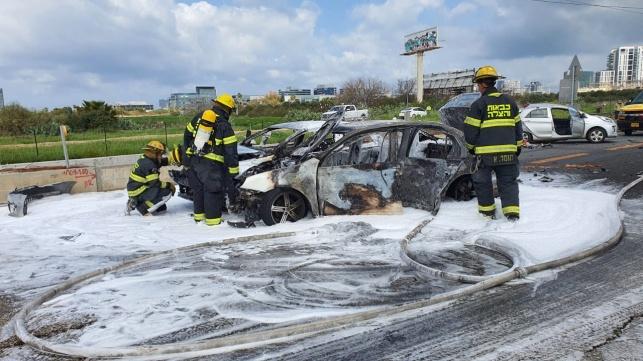 הרכב שעלה באש