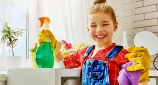 הילדים יכולים לעזור בניקוי הבית