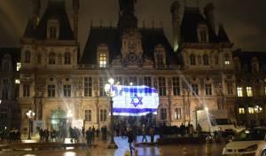 מזדהים: דגל ישראל על בניין עיריית פריז