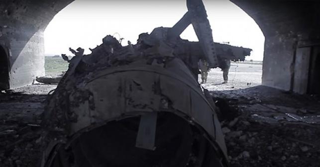 """אחד המטוסים שהופצצו ע""""י ארה""""ב"""