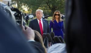הנשיא טראמפ ורעייתו