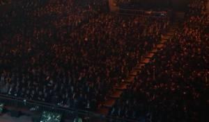 """חלק מהקהל בסיום הש""""ס בוומבלי"""